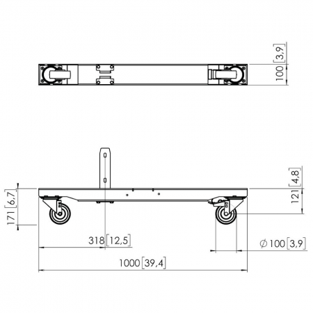 MM-PFT8920 Trolley Gestell für Rollwagen