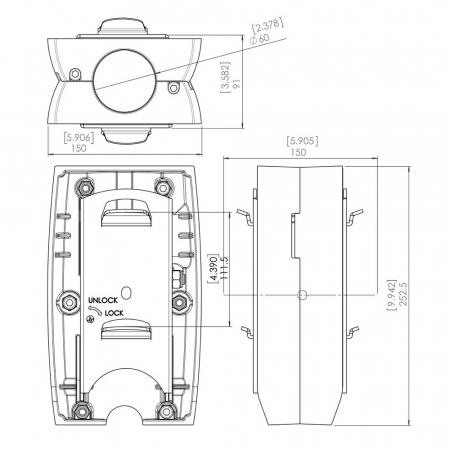 MM-PFA9002 Rücken-an-Rücken Dreh und Neigemodul