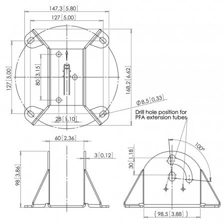 MM-PFA9010 Deckenkonsole