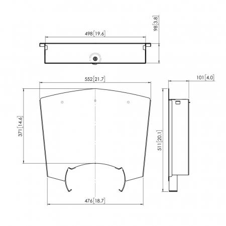 MM-PFA9034 Ablageboden mit abschließbaren Schrank
