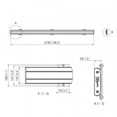 MM-PFB3427 Adpaterleiste für Monitorhalterung 270 cm