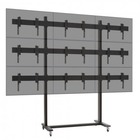 3x3 Videowall Trolley MM-TVW355