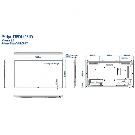 Philips 43BDL4051D/00 Public Info Display 43 Zoll (108,00 cm)