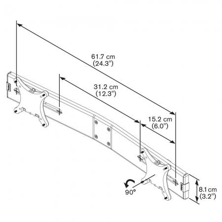 MM-PFA9102 Dual Display Adapter für PFD Tischhalter