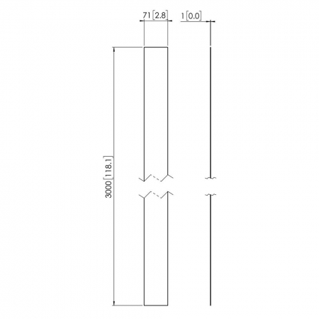 MM-PFA9107 Weiße Abdeckstreifen für Profile der PUC 25xx-Serie