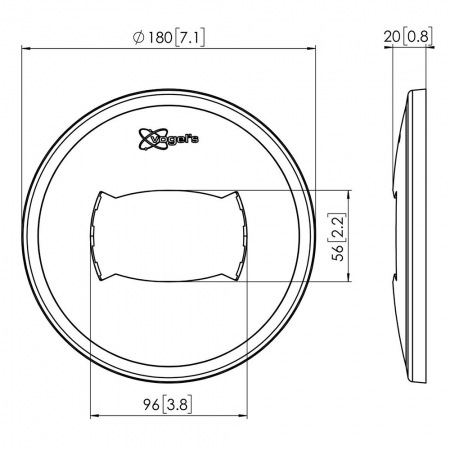 MM-PFA9108 Weiße Deckenblende für Profile der MM-PUC25xx Serie
