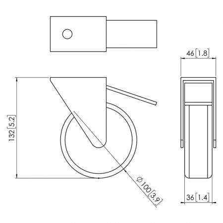 Schwerlast Rollenset MM-PFA9114 für extra schwere Displays