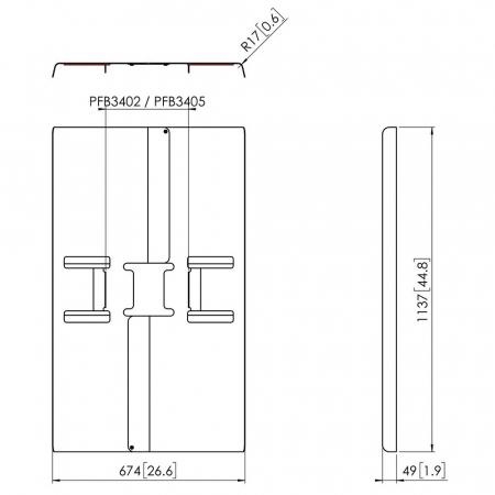 MM-PFA9121 Rückwandabdeckung 50 bis 55 Zoll