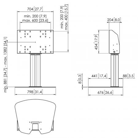 Motorbetriebener Bodenständer MM-FE5064 50 cm