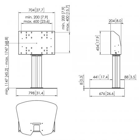 Motorbetriebener Bodenständer MM-FE6064 60 cm
