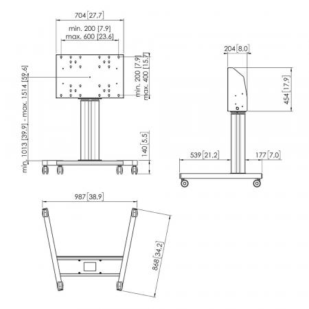 Rollwagen motorisiert MM-TE5064 50 cm