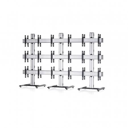TV-Standfuß Mobil Base Rücken an Rücken für Monitore von 55-70 Zoll 3x3