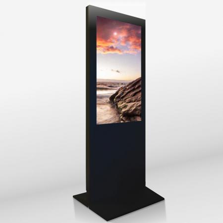 Digital Poster Werbestele MMLS55QM 55 Zoll UHD und WLAN-fähig