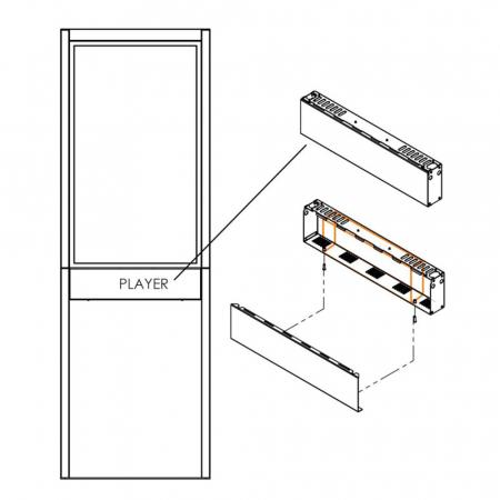 Player-Box Gehäuse für die Standfüße OMN-STAND