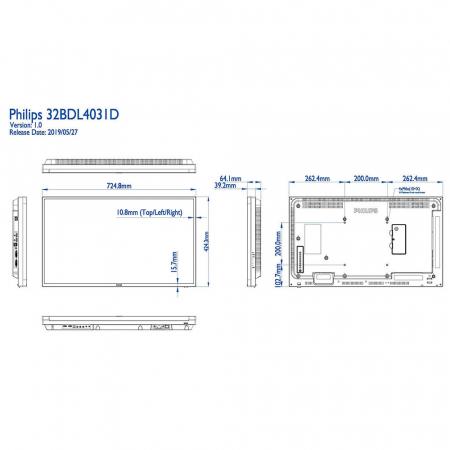 Philips 32BDL4031D/00 Public Info Display 32 Zoll (81,28 cm)
