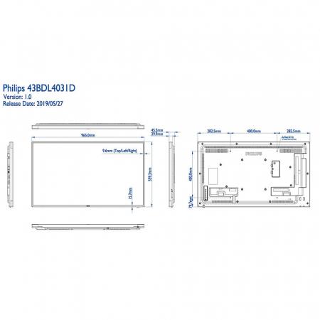 Philips 43BDL4031D/00 Public Info Display 43 Zoll (108,00 cm)