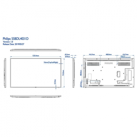 Philips 55BDL4031D/00 Public Info Display 55 Zoll (138,68 cm)