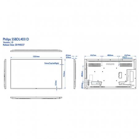 Philips BDL4830QL/00 Public Info Display 48 Zoll (121,92 cm)
