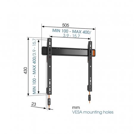 MM-3205 flache TV-Wandhalterung 32- 55 Zoll