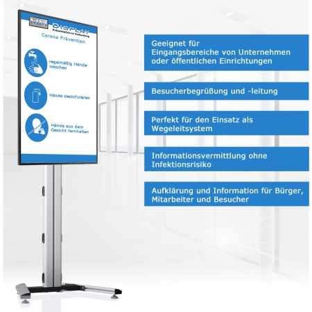 Digitales WLAN Infodisplay DWSQBR