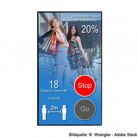 Digitaler Personenzähler mit Zutrittskontrolle