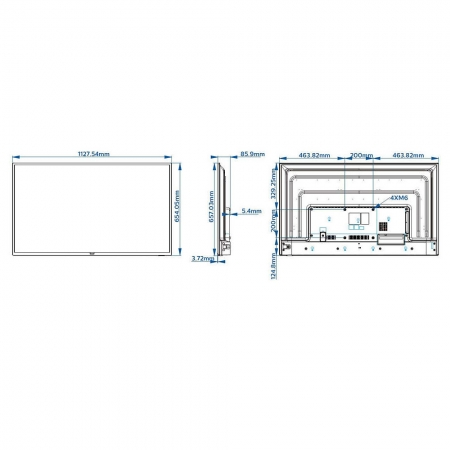 Philips Professional B-Line 50BFL2114 50 Zoll