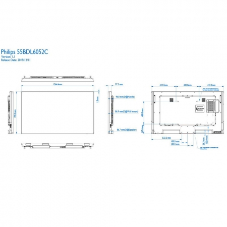 Philips C-Line Meeting-Display 55BDL6051C 55 Zoll