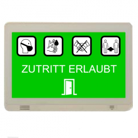 Manuelles Eingangskontrollsystem Komplettpaket mit Schalter