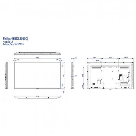 Philips 50BDL3050Q/00 4K UHD Display 50 Zoll (126 cm)