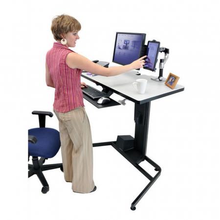 Ergotron Workfit-D Steh Sitz Arbeitstisch