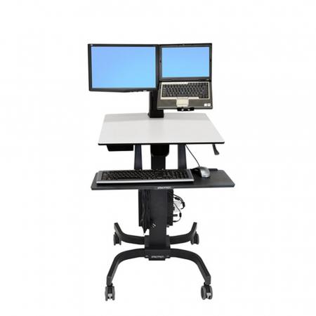 Ergotron Workfit-C Steh Sitz Arbeitsplatz  für LCD und Laptop