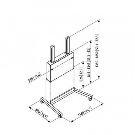 MM-PFFE 7110 elektrisch höhenverstellbarer Trolley
