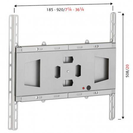 TV Standfuß 1500mm Höhe für zwei 30 - 50 Zoll Monitore