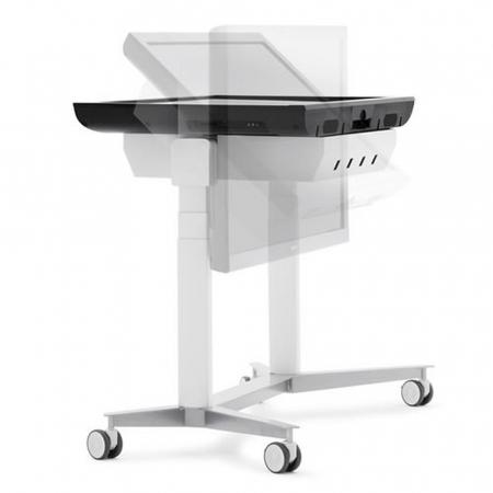 Elektrisch verstellbarer Rollwagen für Touchdisplays