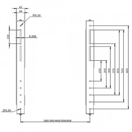 VESA Adapter für Rollwagen MMTT031010-P0