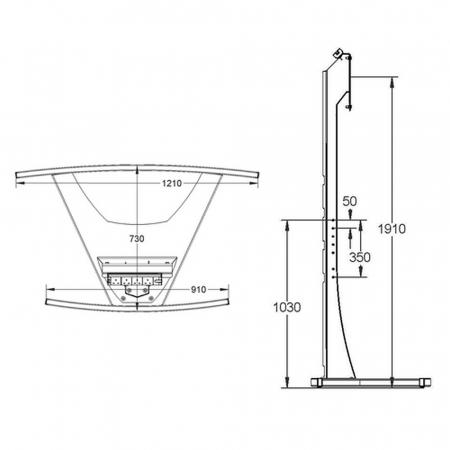LCD LED TV Standfuß für 58 - 70 Zoll Displays Axia Titan