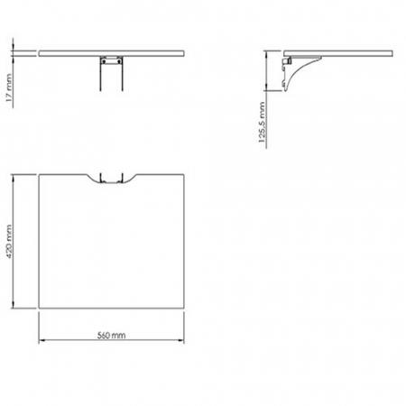 X Shelf Ablageboden für SMS X-Serie