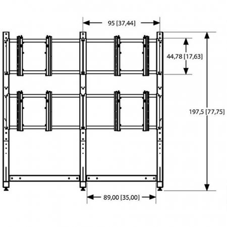 MM-PFF 7805 Videowall Standfuß für 2x2 Monitore 46-55 Zoll