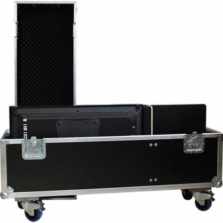 Universal Transportkoffer mit 49 Zoll Monitor und Standfuß