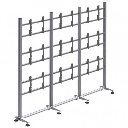 Videowall Standfuß für 3x3 Monitore 46-55 Zoll