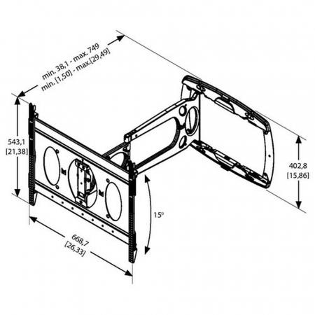 MM-PFW 6850 ausziehbare LED TV Wandhalterung 32 - 72 Zoll