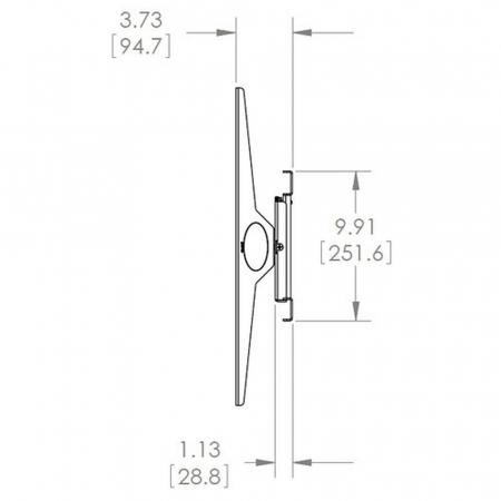 Rotierbare TV Wandhalterung MM6854 für 55-75 Zoll