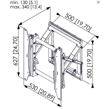 MM-PFW 6875 Ausziehbare Videowall Wandhalterung Hochformat