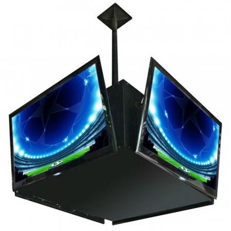 Würfel Deckenhalterung für 4 Monitore von 32-46 Zoll