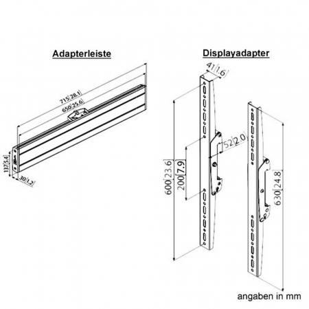 Boden-Deckensäule PUC3000-65 für Monitore bis 65 Zoll