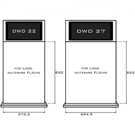 Firmenlogo Folienaufkleber für DWD Stelen