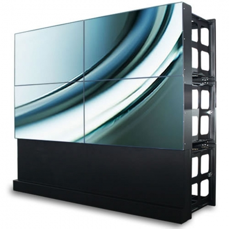 Transportables Klappbox Set für 2x2 46 Zoll Videowall Displays