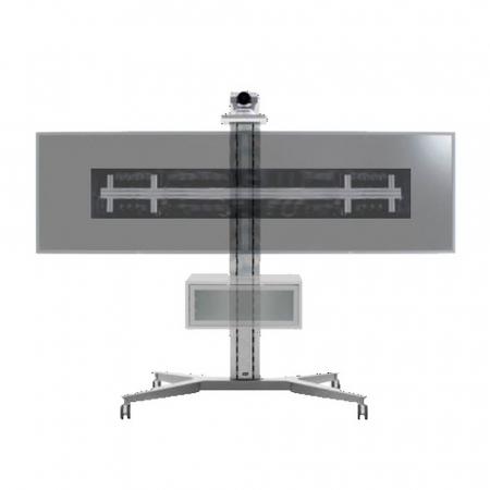 XFH Video Conference Rollwagen für 2 Monitore