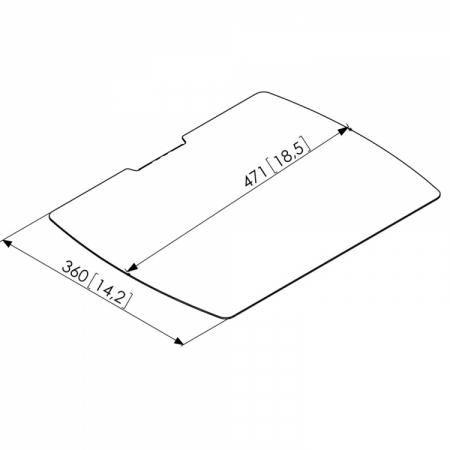 MM-PUA9507 Optionaler Ablageboden für Standfüße und Rollwagen