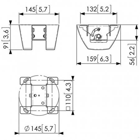 MM-PUC1035 Deckenadapter für Dachschrägen